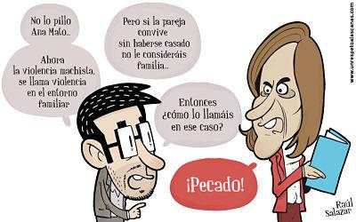 Noticias Criminología. Ana Mato (PP) violencia de género y pecado. Marisol Collazos Soto