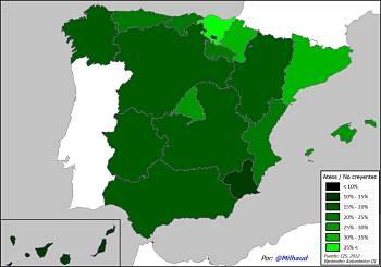 Noticias criminología. Encuesta del CIS, ateos en España. Marisol Collazos Soto