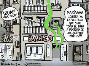 Noticias criminología. Activos tóxicos de los bancos. Marisol Collazos Soto