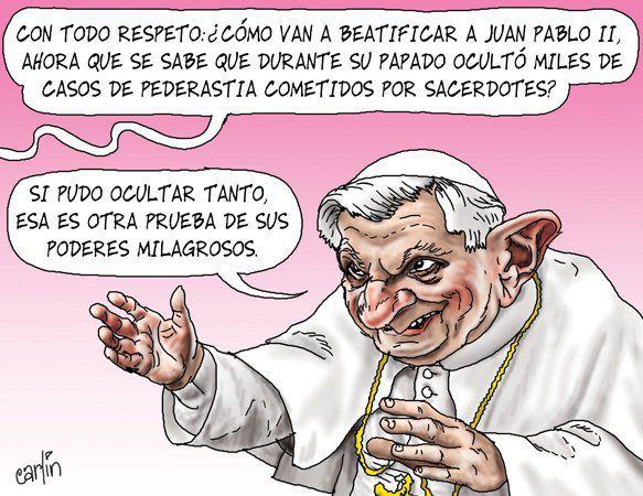 Noticias Informática. Humor, el papa beatifica a Juan Pablo II, con casos de pederastia. Marisol Collazos Soto