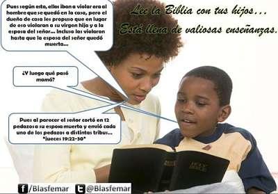 Noticias criminología. Enseñanzas de la Biblia a nuestros hijos. Marisol Collazos Soto