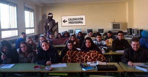 Noticias Criminología. Calefacción provisional en escuelas de Valencia. Marisol Collazos Soto