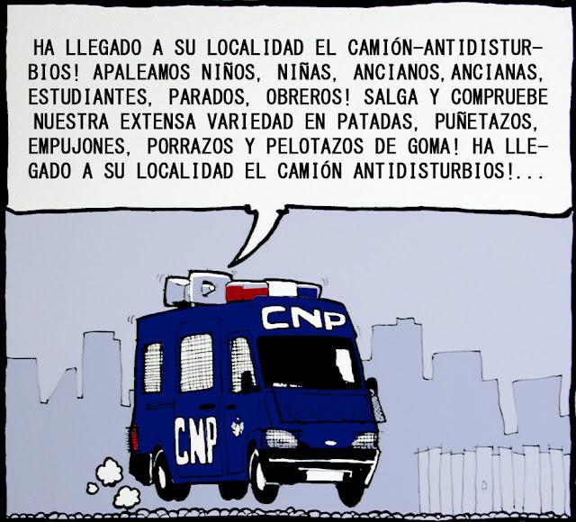 Noticias criminología. CPN, antidisturbios. Marisol Collazos Soto