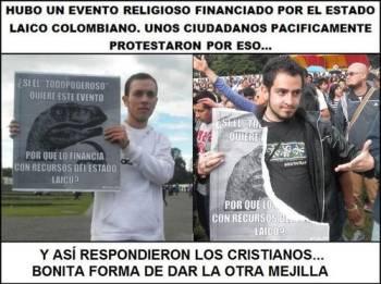 Noticias criminología. Los católicos de Colombia frente a protestas laicas. Marisol Collazos Soto