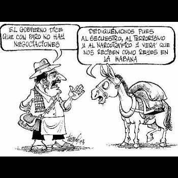 Actualidad Informática. Humor en Colombia, paro agricultores. Rafael Barzanallana. UMU