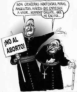 Noticias Criminología. Humor, curas no al aborto. Marisol Collazos Soto