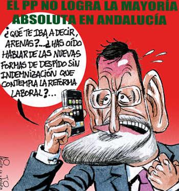 Noticias Criminología. Humor, Rajoy despide  a Arenas. Marisol Collazos Soto