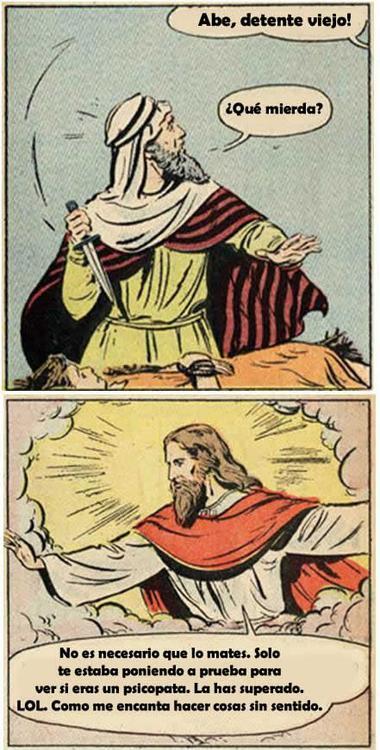 Noticias criminología. Humor, dios ordenó a Abrahan matar a su hijo. Marisol Collazos Soto