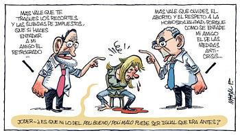 Noticias criminología. Humor con el PP, el bueno y el malo. Marisol Collazos Soto