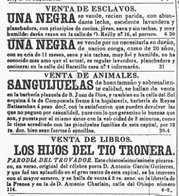 Noticias criminología. Prensa antigua, esclavas en vanta. Marisol Collazos Soto