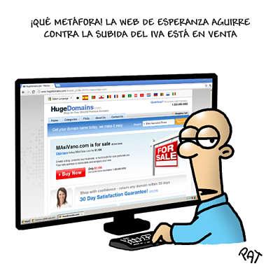 Noticias criminología. La web de Espernza Aguirre contra la subida del IVA, está en venta. Marisol Collazos Soto