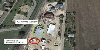 Noticias criminología. Química que explica la explosión de Texas. Marisol Collazos Soto