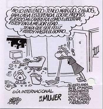 Noticias Criminología. Humor, Forges en el dia de la  mujer. Marisol Collazos Soto