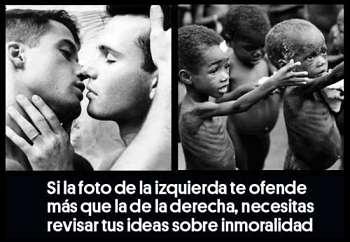 Noticias criminología. Foto que ofende, niños negros, homosexuales. Marisol Collazos Soto