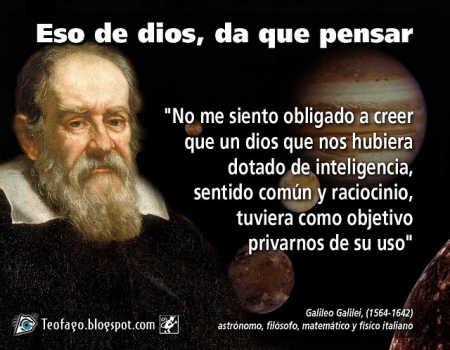Noticias Criminología. Galileo Galilei y dios. Marisol Collazos Soto