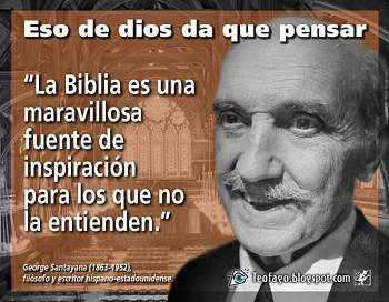 Noticias criminología. La Biblia es ... (Santayana). Marisol Collazos Soto