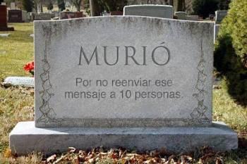 """Noticias criminología. Muere primer individuo por """"no reenviar ese mensaje a 10 personas. Marisol Collazos Soto"""