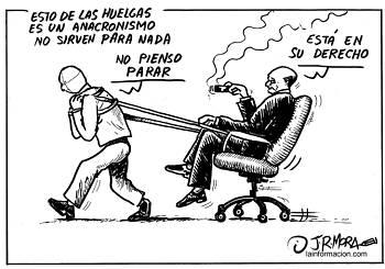 Noticias criminología. Ejemplo de trabajador contrario a la huelga. Marisol Collazos Soto