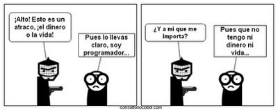 Noticias Criminología. Humor, atraco a informático. Marisol Collazos Soto