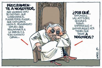 Noticias Criminología. Humor, hábitos sexuales de los sacerdotes. Marisol Collazos Soto