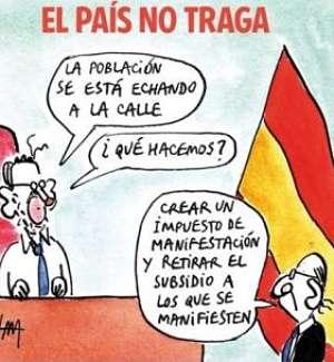 Noticias criminología. Mariano Rajoy, nuevo impuesto sobre manifestaciones. Marisol Collazos Soto
