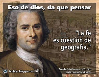 Noticias criminología. Rousseau, la fe es cuestión de geografía. Marisol Collazos Soto