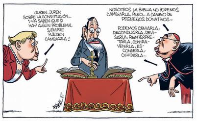 Noticias Criminología. Juramento de Rajoy sobre biblia. Marisol Collazos Soto