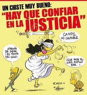 Noticias Criminología. Humor sobre la justicia en España. Marisol Collazos Soto