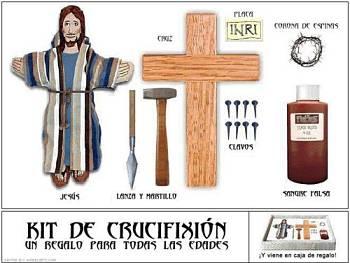 Noticias criminología. Kit de crucifixión, un regalo para todas las edades. Marisol Collazos Soto