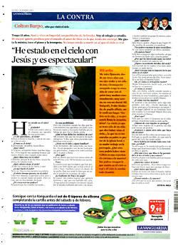 """Noticias criminología. """"He estado en el Cielo con Jesús ¡y es espectacular!"""", dice un niño, y 'La Vanguardia' se lo cree. Marisol Collazos Soto"""