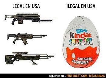 Noticias criminología. En EE.UU. armas legales, huevos de chocolate ilegales. Marisol Collazos Soto