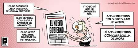 Noticias Criminología. Los ministros de Rajoy frente a los de Zapatero. Marisol Collazos Soto