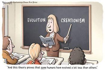 Noticias criminología. Humor con la enseñanza del creacionismo. Marisol Collazos Soto