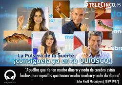 Noticias criminología. Telecinco y Cuatro venden una pulsera de la suerte. Marisol Collazos Soto