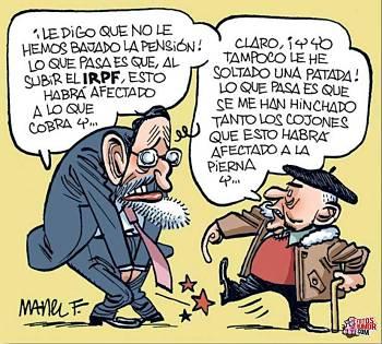 Noticias criminología.Humor, Rajoy y los pensionistas . Marisol Collazos Soto