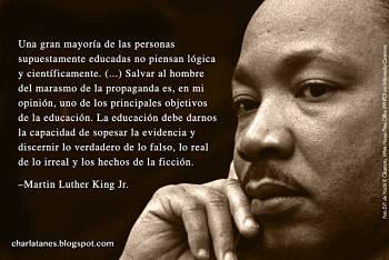 Noticias criminología. Martin Luther King y la educación. Marisol Collazos Soto