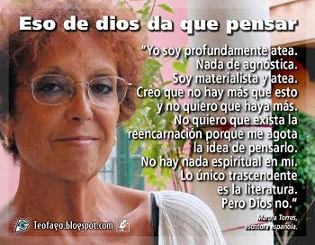 Noticias criminología. Maruja Torres: yo soy profundamente atea .... Marisol Collazos Soto