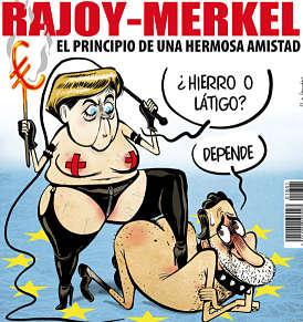 Noticias Criminología. Humor, merkel Rajoy, principio de una amistad. Marisol Collazos Soto