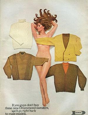 Noticias criminología. Colección de 45 anuncios vintage sexistas, Mujer desnuda