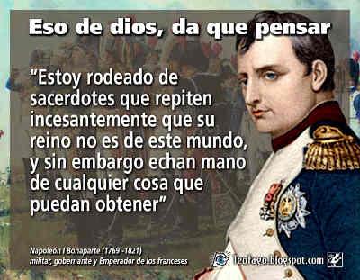Noticias criminología. Napoleón Bonaparte y los Sacerdotes. Marisol Collazos Soto