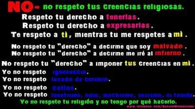 Noticias criminología. No respeto a la religión. Marisol Collazos Soto