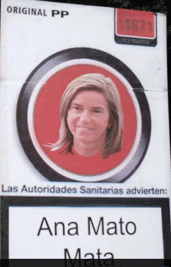 Noticias criminología. Algunas pancartas contra el PP, manifestación del 15 de septiembre, Ana Mato mata. Marisol Collazos Soto