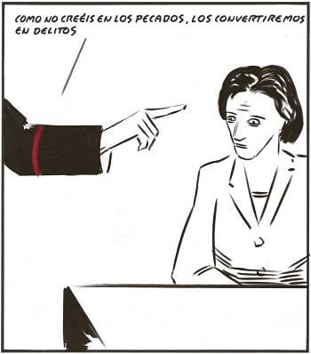 Noticias criminología. El Partido Popular convierte los pecados de la ICAR en delitos. Marisol Collazos Soto