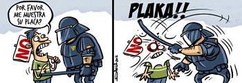 Noticias criminología. Humor con la identificación de los policías. Marisol Collazos Soto
