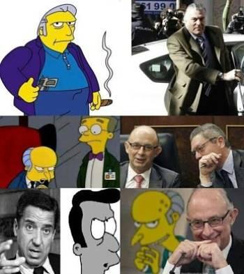 Noticias criminología. Comparación entre políticos del PP y los Simpsons. Marisol Collazos Soto