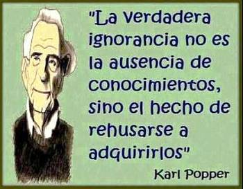 Noticias criminología. Karl Popper y la ignorancia. Marisol Collazos Soto