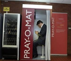 Noticias criminología. Pray-O-Mat, cabinas inútiles para rezar. Marisol Collazos Soto