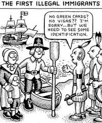 Noticias Criminologia. Humor, priemros inmigantes ilegales en EE.UU. Marisol Collazos Soto