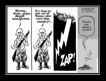 Noticias criminología. Racista y rayo. Marisol Collazos Soto
