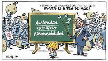 Noticias criminología. La austeridad de Mariano Rajoy. Marisol Collazos Soto